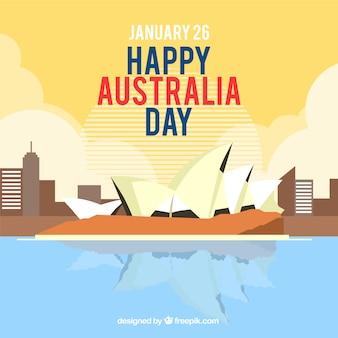 Design do dia da austrália de sydney