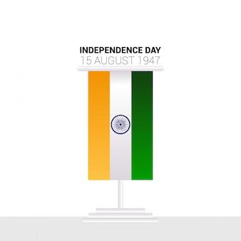 Design do dia da independência indiana com vetor de tipografia
