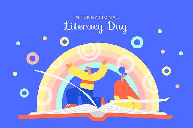 Design do dia internacional da alfabetização