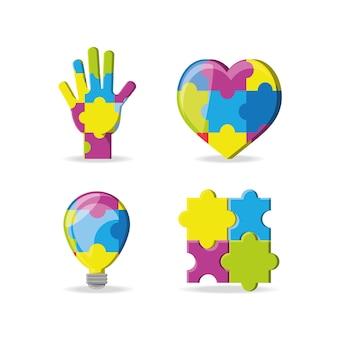 Design do dia mundial da consciência do autismo