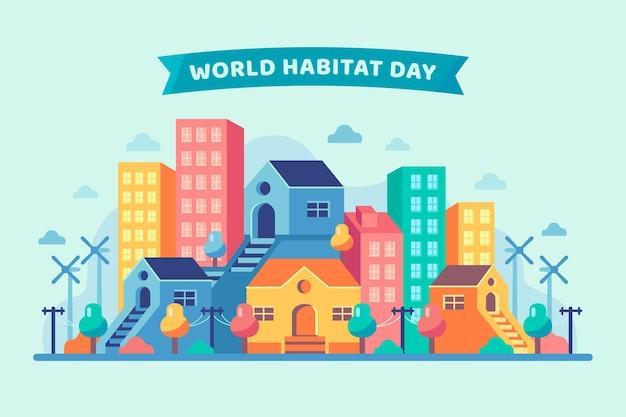Design do dia mundial do habitat