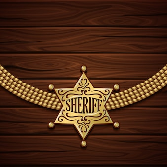 Design do emblema do xerife