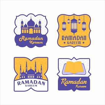 Design do emblema ramadan kareem