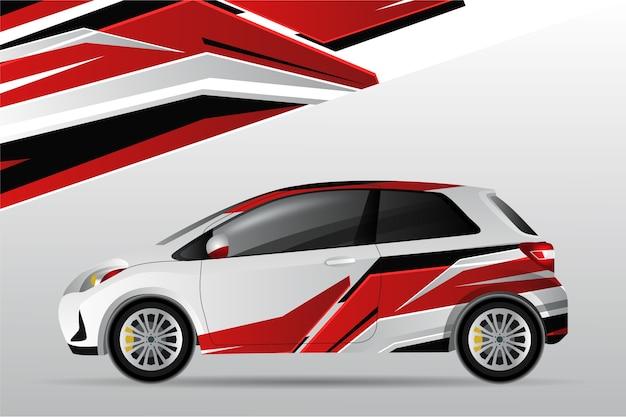 Design do envoltório do carro
