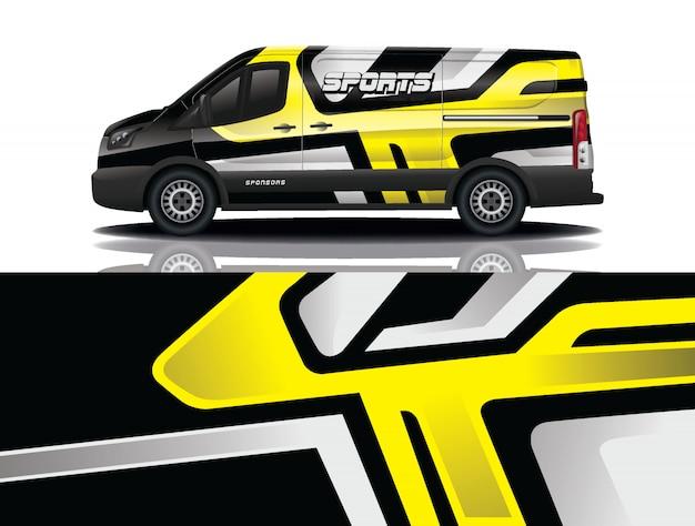 Design do envoltório do decalque do carro van