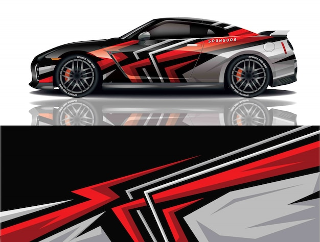 Design do envoltório do decalque do carro