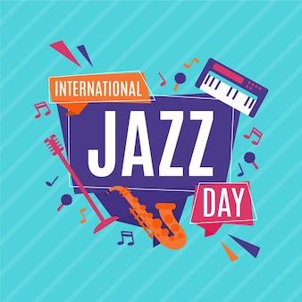 Design do evento internacional do dia do jazz