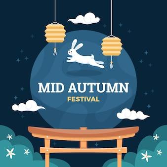 Design do festival do meio do outono