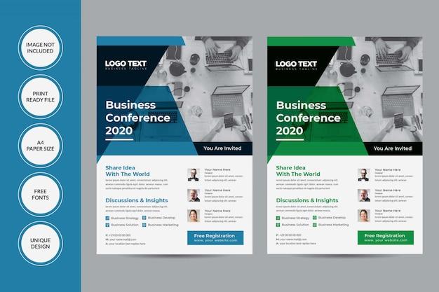 Design do folheto da conferência