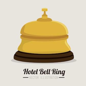 Design do Hotel sobre ilustração vetorial de fundo branco
