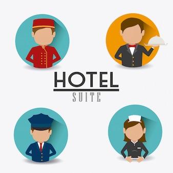 Design do hotel.