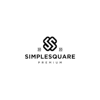 Design do ícone do logotipo da letra ss