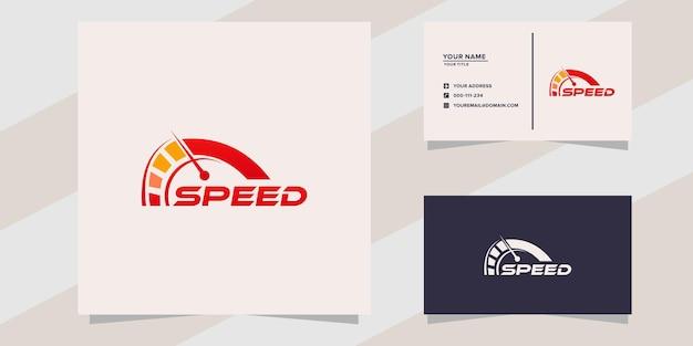 Design do ícone do logotipo de velocidade rpm