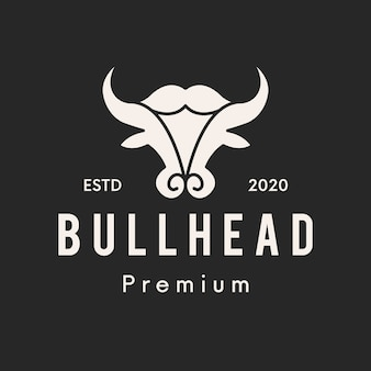 Design do logotipo bull head clean