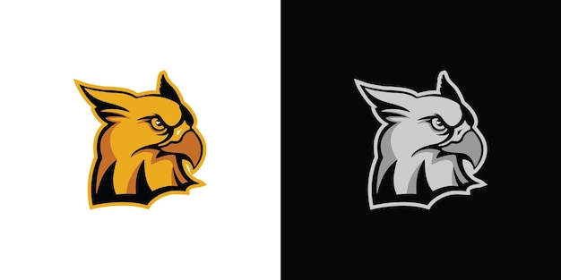 Design do logotipo da águia vetor premium