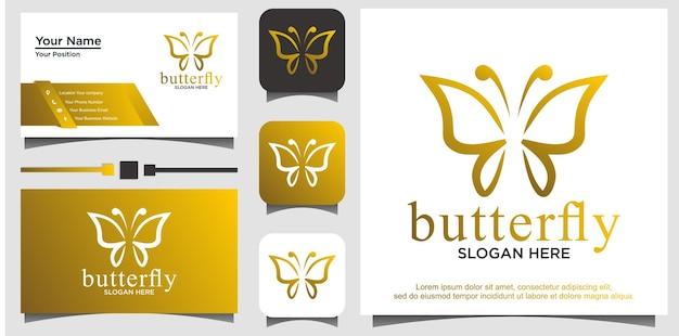 Design do logotipo da beauty butterfly
