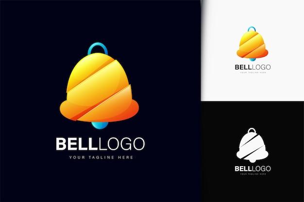 Design do logotipo da bell com gradiente