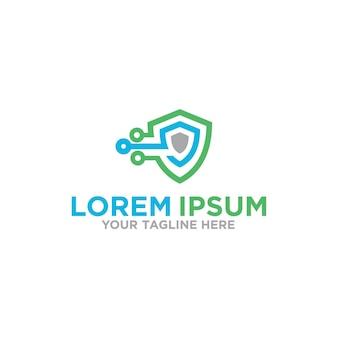 Design do logotipo da blockchain security tech