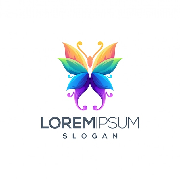 Design do logotipo da borboleta
