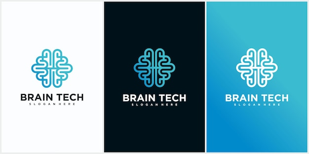 Design do logotipo da brain tech