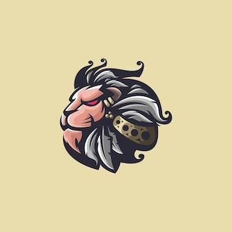 Design do logotipo da cabeça de leão
