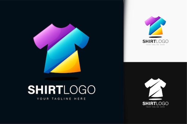 Design do logotipo da camisa com gradiente