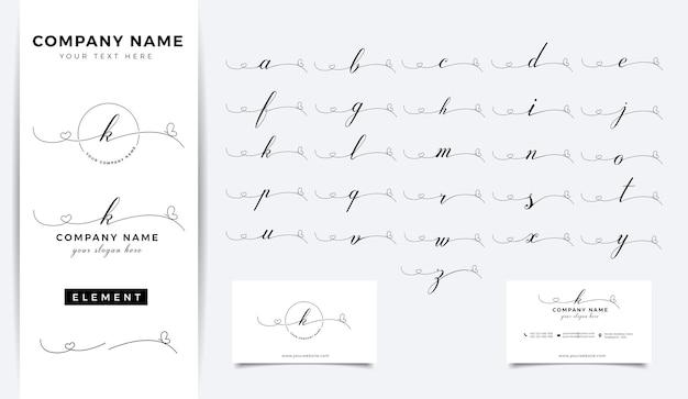 Design do logotipo da carta inicial da beleza