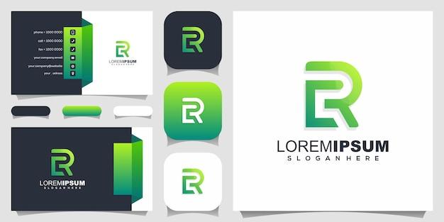 Design do logotipo da carta rc