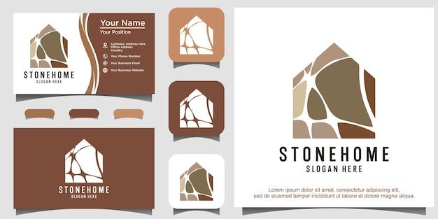 Design do logotipo da casa de pedra