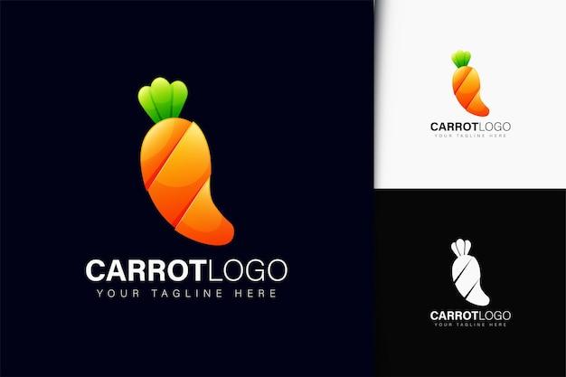 Design do logotipo da cenoura com gradiente