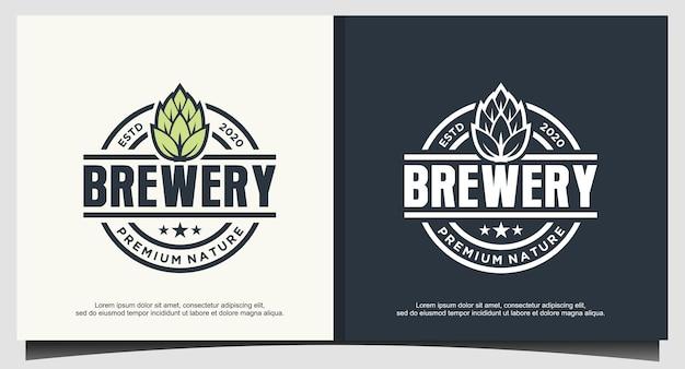 Design do logotipo da cervejaria design universal da cervejaria
