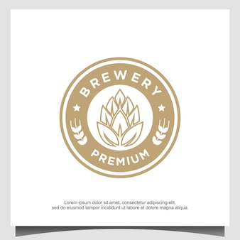 Design do logotipo da cervejaria modelo universal