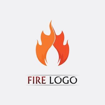 Design do logotipo da chama de fogo