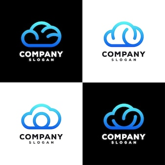 Design do logotipo da cloud color