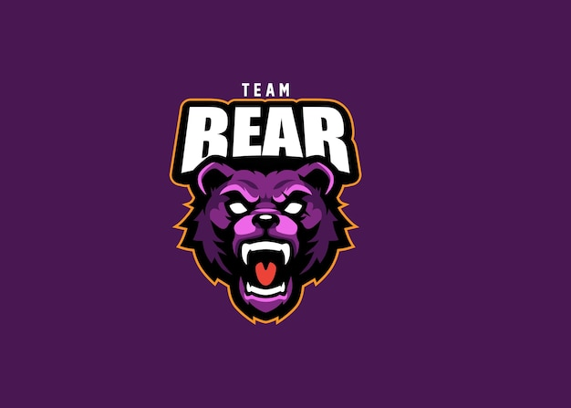 Design do logotipo da equipe bear esport