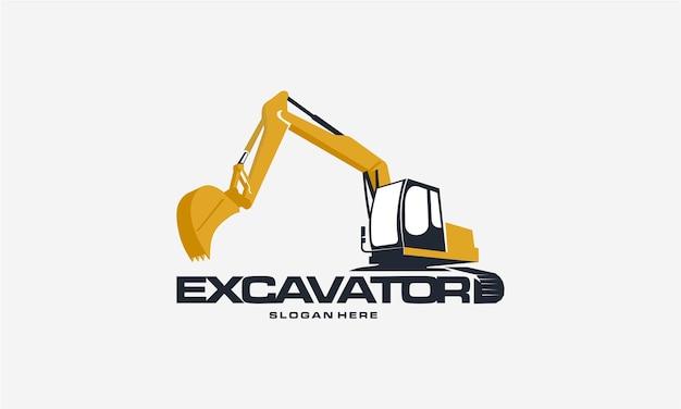 Design do logotipo da escavadeira