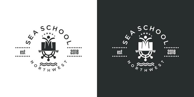 Design do logotipo da escola de vela da marinha