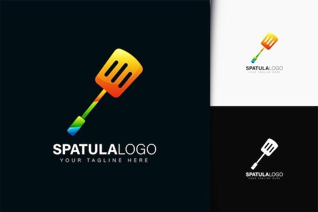Design do logotipo da espátula com gradiente