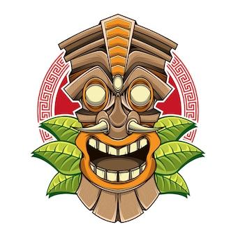 Design do logotipo da estátua tiki
