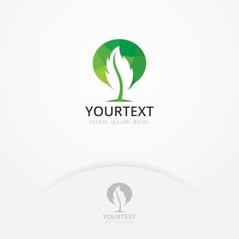 Design do logotipo da folha