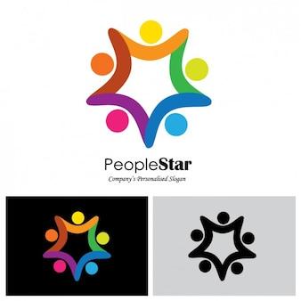 Design do logotipo da forma da estrela