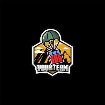 Design do logotipo da gota de ar