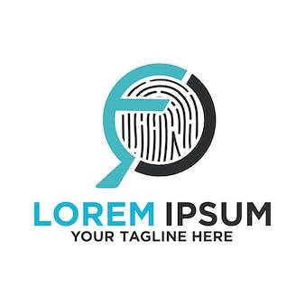 Design do logotipo da impressão digital do forensic expert