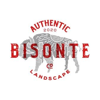 Design do logotipo da insígnia bisonte