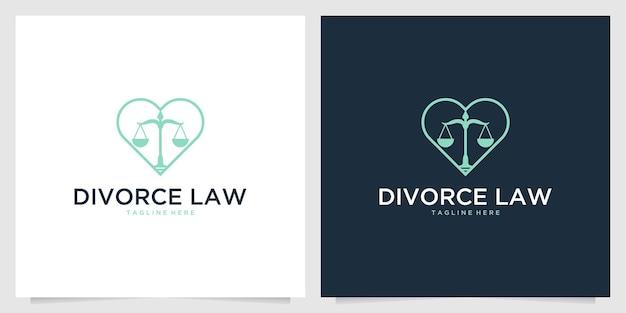 Design do logotipo da lei do divórcio