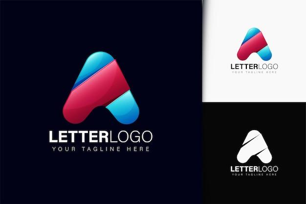 Design do logotipo da letra a com gradiente
