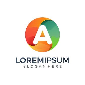 Design do logotipo da letra a