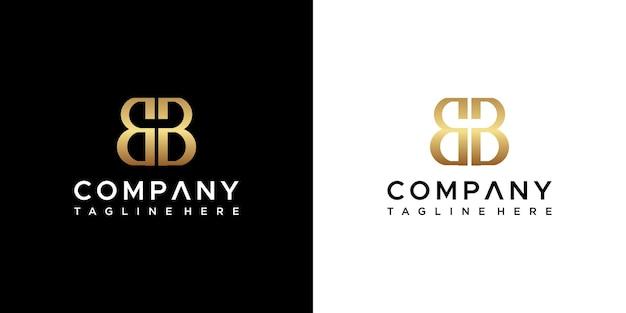 Design do logotipo da letra bb