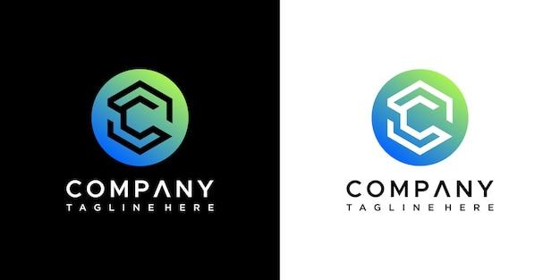 Design do logotipo da letra c