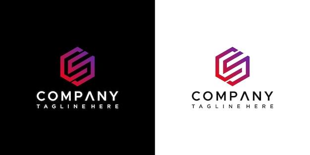 Design do logotipo da letra cs
